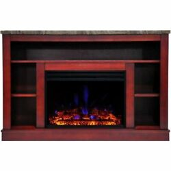 Cambridge Seville Electric Fireplace Heater With 47 Cherry Tv Stand