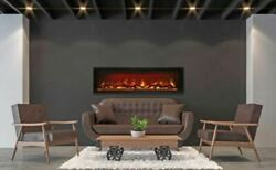 60 Clean Face Symmetry Electric Fireplace W/black Steel Surround