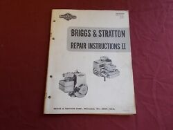 Vgt 1970 Briggs And Stratton Engine Repair Insrtuctions Manual Go Kart Mower