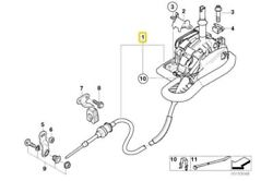 Genuine Bmw Shift Lever Assembly Automatic Transmission Shifter 25167522144