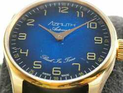 Limited Edition Azimuth Back In Time Save The 1 Ocean Blue 42 Mm Swiss Made Auto