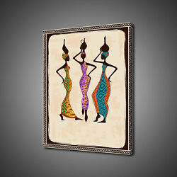 African Ladies Fetching Water Canvas Print Picture Wall Art Free Fast Delivery