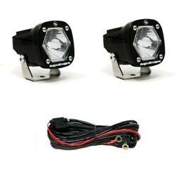 Baja Designs 387801 S1 Spot Led Clear Lens Light Pair With Mounting Bracket