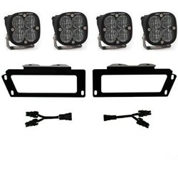 Baja Designs 447619 Squadron Sae Led Fog Light Pocket Kit For 2009-2018 Dodge