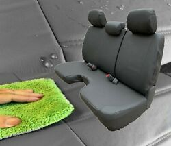 Dark Gray Waterproof Bench Seat Cover Large Notched Cushion 3 Adj H/r Exact Fit