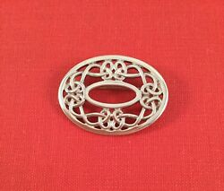 Vintage Jewelry Sterling Silver Celtic Knot Brooch Pin Antique Uk Jewellery