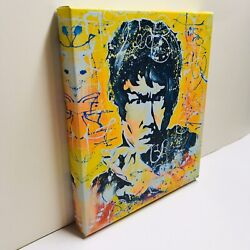 Bruce Lee Colorful Canvas Print Of Original Artwork- Copy On Canvas Wall Art