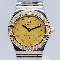 Omega Constellation Rose Gold Diamond My Choice USA Limited Edition Ladies Watch