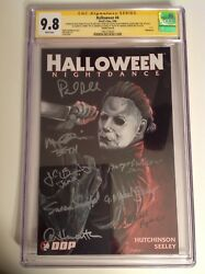 Cgc Ss 9.8 Halloween 4 Signed By Paul Rudd And Cast Of Halloween 6 Michael Myers