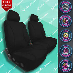 For Jeep Grand Cherokee Canvas All Over Waterproof Black Car Front Seat Covers