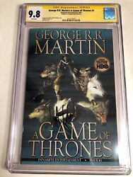Cgc Ss 9.8 George R.r. Martinand039s A Game Of Thrones 1 Signed By Kit Harington