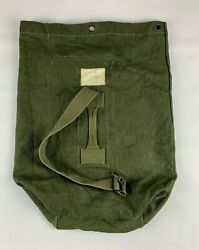 Vintage Military Us Army Green Canvas Duffle Laundry Bag Rucksack Backpack