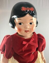 18 Antique American Composition Ideal Snow White Doll Beautiful Rare 18041