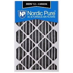 20x25x4 Air Filter Carbon Furnace Merv 12 Bulk Nordic Pure 11 Pleated 2 Pack