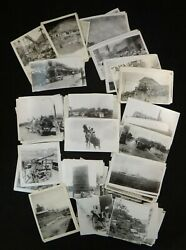 Group Of 147 Original Unique 1940's War Photos During And Post W/solders, Ships