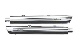 Indian Motorcycle Chrome Stage 1 Oval Slip On Mufflers For 2014-2020 Roadmaster