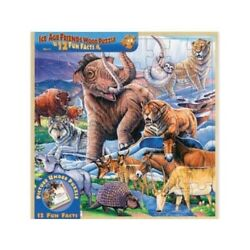 Ice Age Friends Wood Fun Facts Puzzle 48pc - Family Tabletop Gaming = Brand New