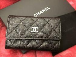 Chanel Coin Case Card Case CC logos m84547101162 Black Pre-owned From Japan