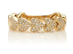 1.51ct Natural Round Diamond 14k Solid Yellow Gold Band Heart Ring Size 7