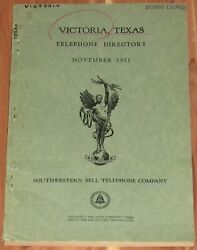 1951 Texas Telephone Directory, Victoria, Resident And Business
