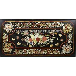 Marble Breakfast Table Butterfly Floral Collectible Inlay Marquetry Decor E637