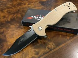 Emerson Knife Sheepdog Bowie BT S35VN Brown Micarta Action Concepts Exclusive