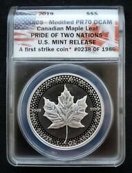 2019 Anacs Modified Pr70 Dcam Canadian Maple Leaf | Pride Of Two Nations 5 74