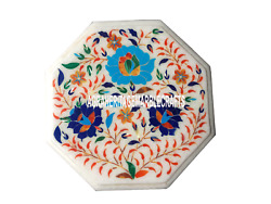 Marble Table Coffee Top Hakik Floral Special Inlay Occasion Outdoor Decor H3507