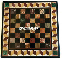 Designer Marble Coffee Chess Playing Table Top Mosaic Inlay Outdoor Decor H3933