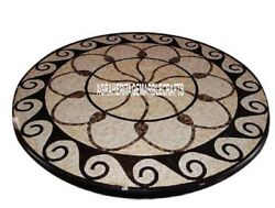 Marble Restaurant Table Top Mosaic Italian Inlay Halloween Furniture Decor H3982