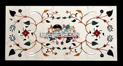 Marvelous Marble Dining Table Fruit Mosaic Arts Decor Inlaid Patio Outdoor H3966