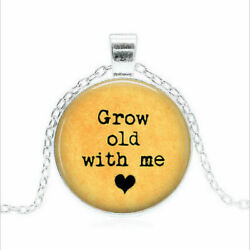 Retire Love Word Old Pendant Charm Sterling Silver Necklace Men Female Gold Gift