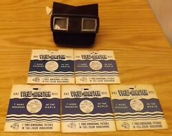 Vintage View Master Viewer And 5 Reels 136 157 163 86 And Sp-9021