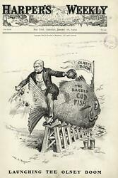 Richard Olney Campaign Launch 1904 Election Cod Cider 1904 Wa Rogers Old Print