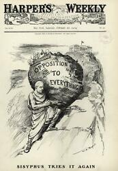 Opposition To Everything A.p. Gorman Sisyphus Candidacy 1904 Wa Rogers Old Print
