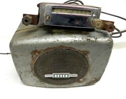 Rare Delco 1930s Gm And Others Am Car Radio With Head Unit Serial Number 954012