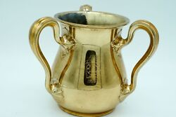 Gorham Sterling Gold Washed 3 Handle Trophy A4628 4 1/8 Pint Free-mason 803.4g