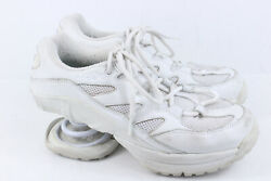 Z-Coil Freedom White Leather Shoes Women's 8 M  Comfort Sneaker Pain Relief
