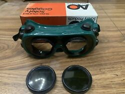 Vintage New Sure-guard Safety Goggles Steampunk Torch Glasses Eye Protection