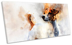 Jack Russell Terrier Dog Print PANORAMIC CANVAS WALL ART Picture