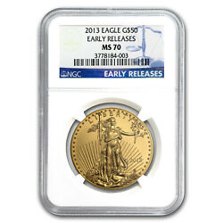 2013 1 Oz Gold American Eagle Ms-70 Ngc Early Releases - Sku 73721