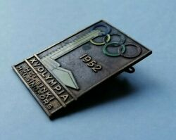 Vintage Finland Helsinki 1952 Olympic Olympiade Participation Pin Badge