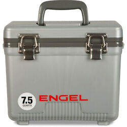 Engel 7.5 Qt EVA Gasket Seal Ice and DryBox Cooler Silver Open Box $39.49