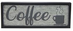 Coffee Rustic Farmhouse Kitchen Standing Sign or Wall Hanging Home Decor Print