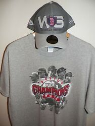 Men's Os Boston Red Sox Champions Hat And Xl T Shirt