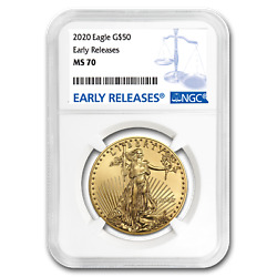 2020 1 Oz Gold American Eagle Ms-70 Ngc Early Releases - Sku199368