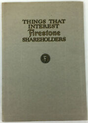 Antique 1919 Things That Interest Firestone Shareholders Proxy Statement Vgc