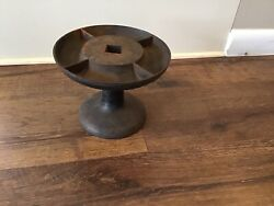 Antique Cast Iron Shoe Last Nail Cup Caddy Tool Bin Parts Tray Cobbler Hardware