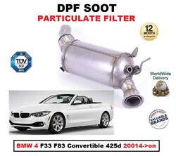 Dpf Diesel Soot Particulate Filter For Bmw 4 F33 F83 Convertible 425d 20014-on