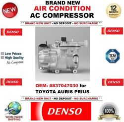 Denso New Air Conditioning Ac Compressor Oem 8837047030 For Toyota Auris Prius